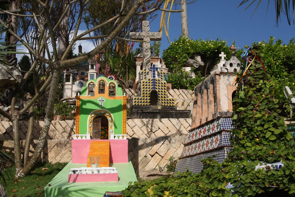 Mexiko Rundreise Yucatan mit Kindern Urlaub Tulum Friedhof