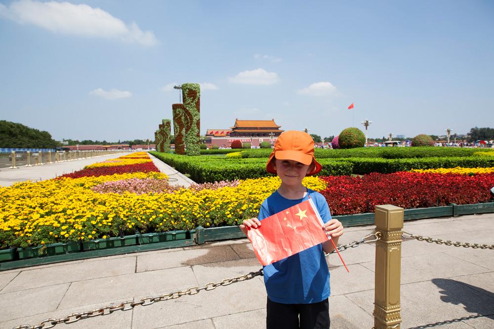 Peking, Beijing, Reisetipps Reisebericht China mit Kind Rundreise, Der grosse Platz