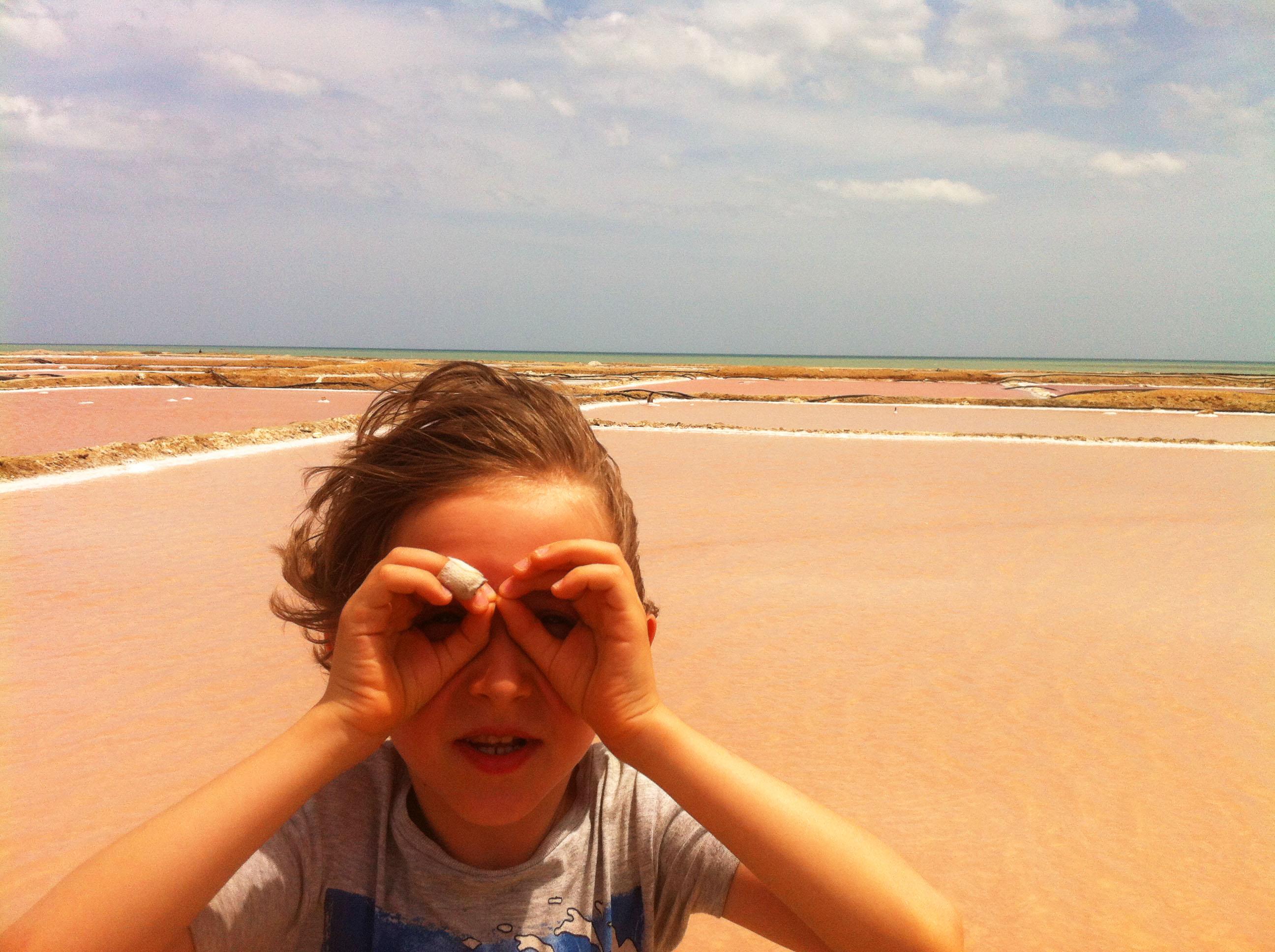Kolumbien Salzwüste, Reisen mit Kindern