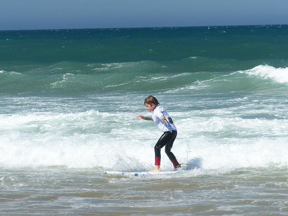 Surfen in Portugal, Reisen mit Kindern