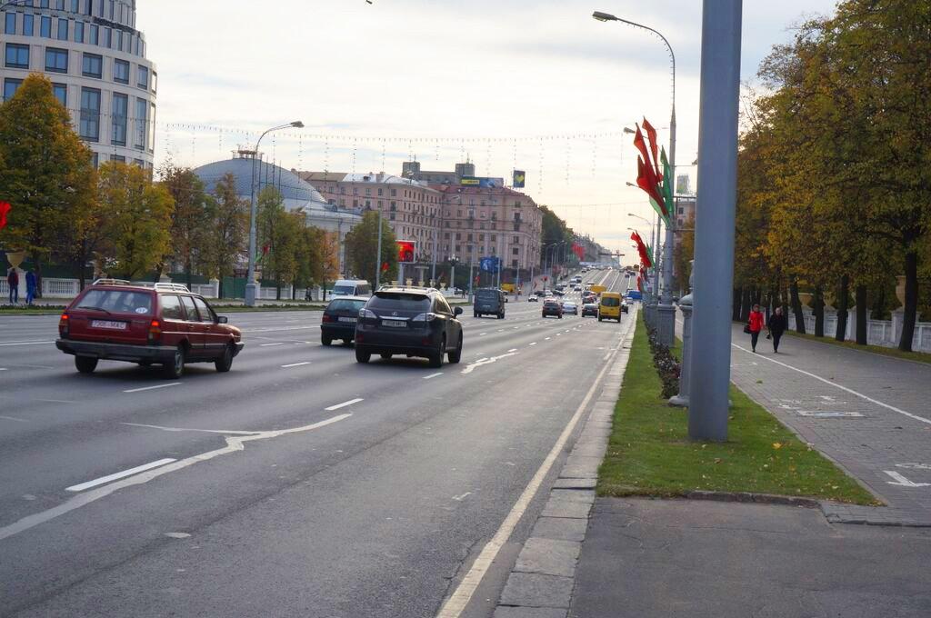 Reise nach Minsk, Sehenswürdigkeiten Minsk, Straße Minsk Bilder
