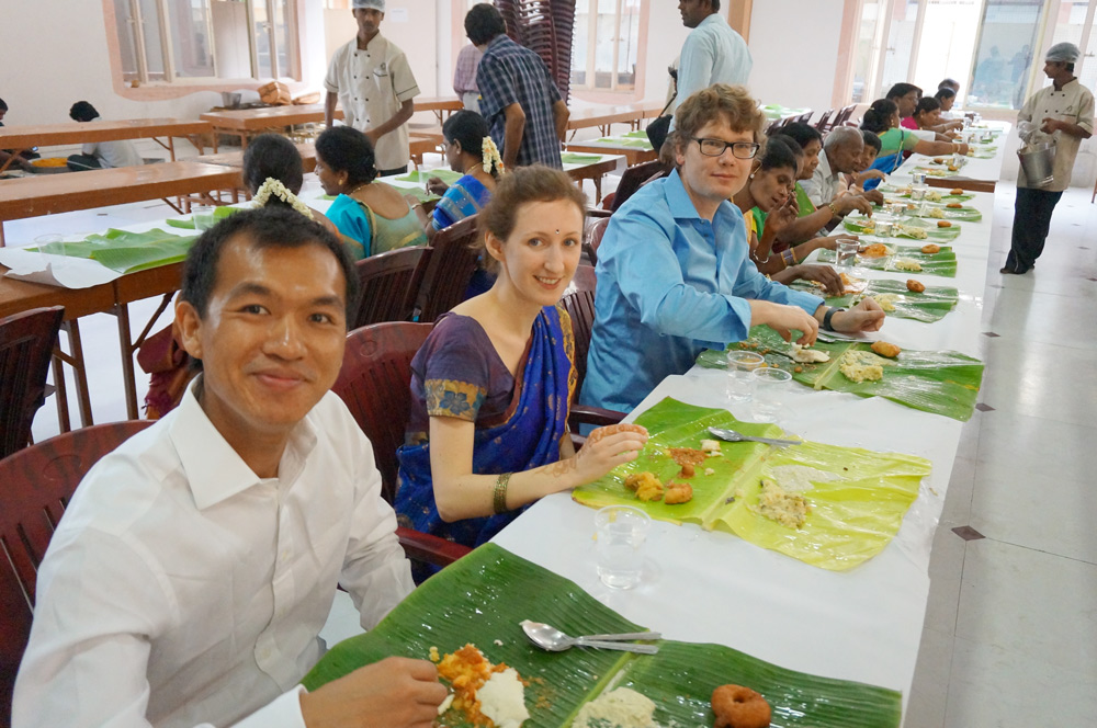 indische Hochzeit Vorbereitungen, Essen, Frühstück
