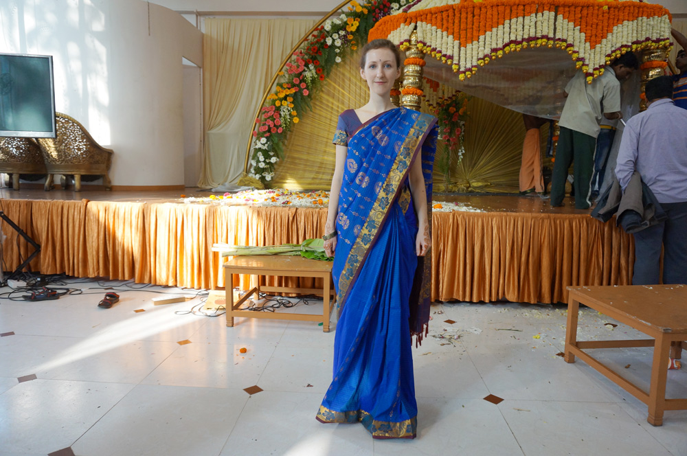 indische Hochzeit in Indien, Kleidung Gäste, Kleid Sari, Salwar, Hochzeit, Ablauf
