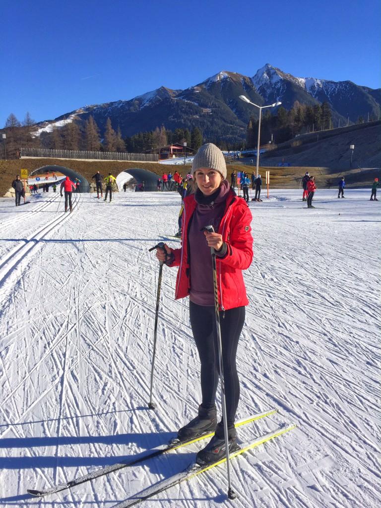 Langlaufen in Tirol auf der Kunstschneeloipe