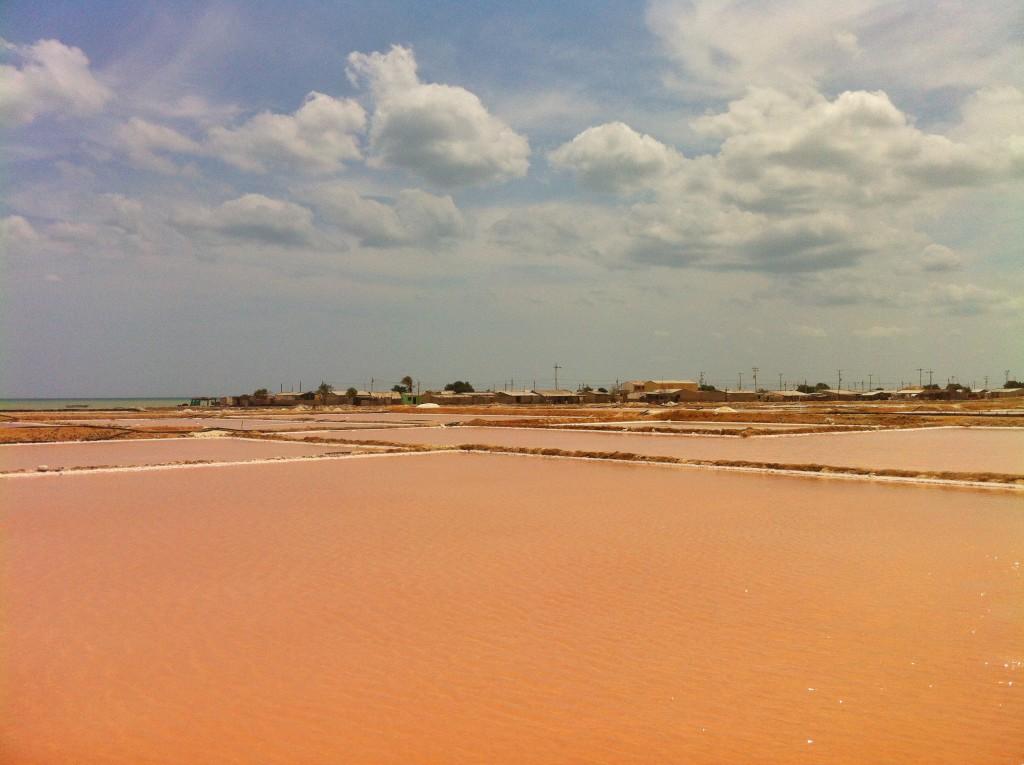 Salz Meer Wüste in Kolumbien Halbinsel Guajira