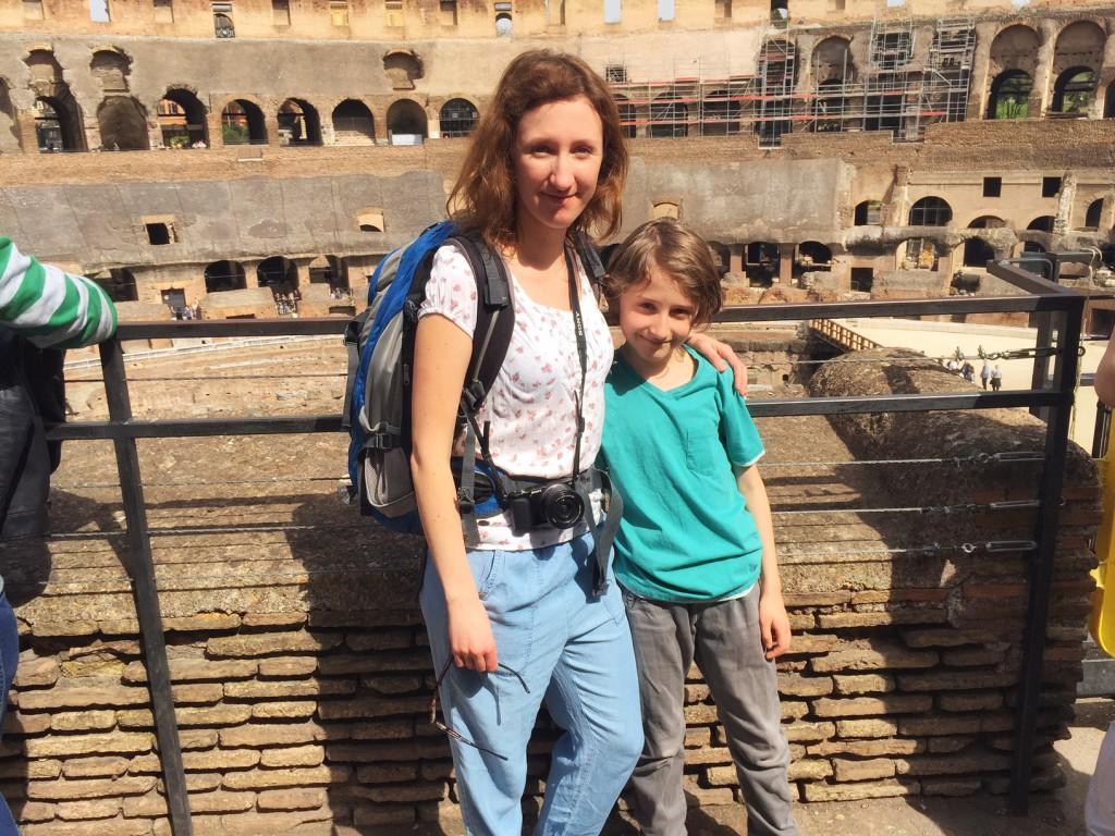 Rom mit Kind Kolosseum mit Kind