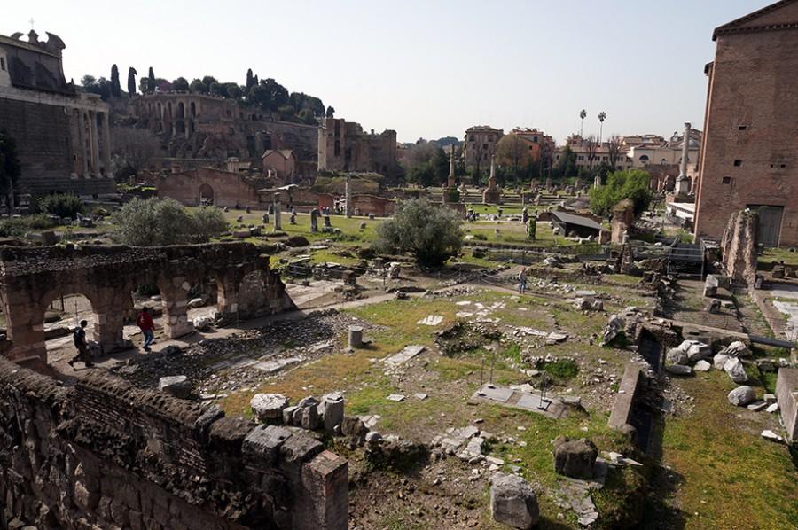 Rom mit Kind Forum Romanum
