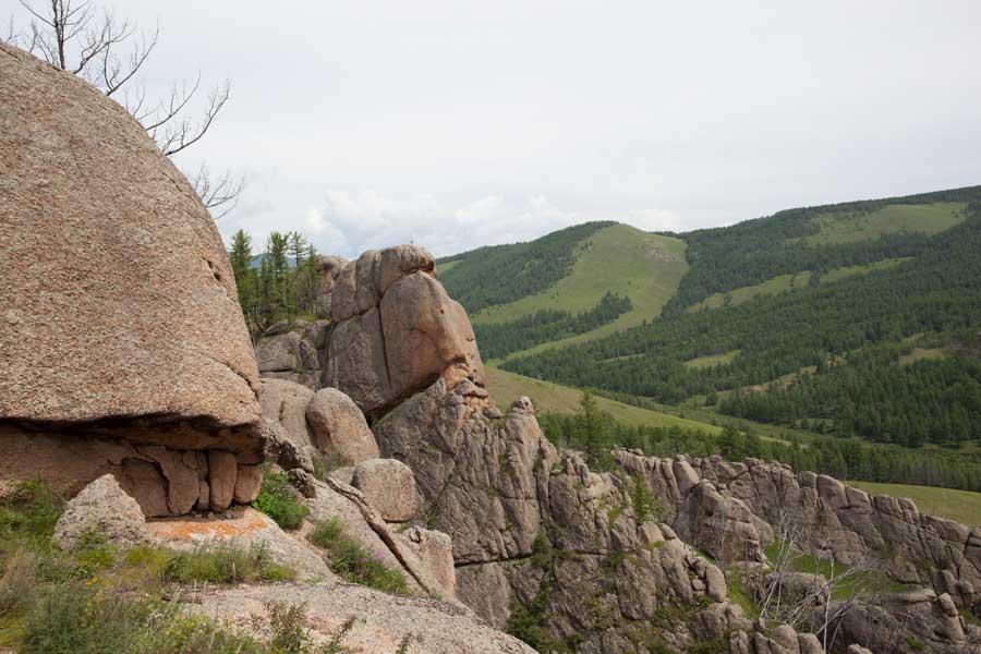 wandern reiten Granit Steinformation, gorkhi-terelj national park