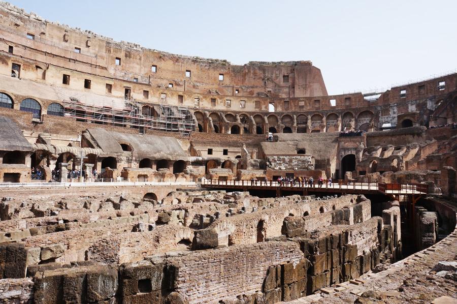 Rom mit Kindern Kolosseum Rom innen