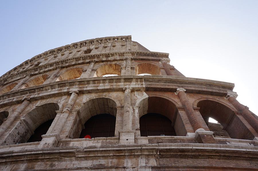 Rom mit Kind Kolosseum Rom