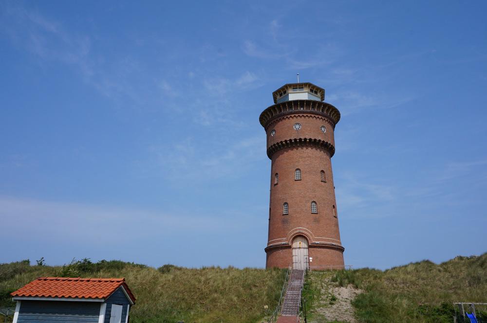 Nordsee Urlaub mit Kindern günstig. Borkum Sehenswürdigkeiten Wasserturm, Kurzurlaub mit Kindern in Deutschland günstig