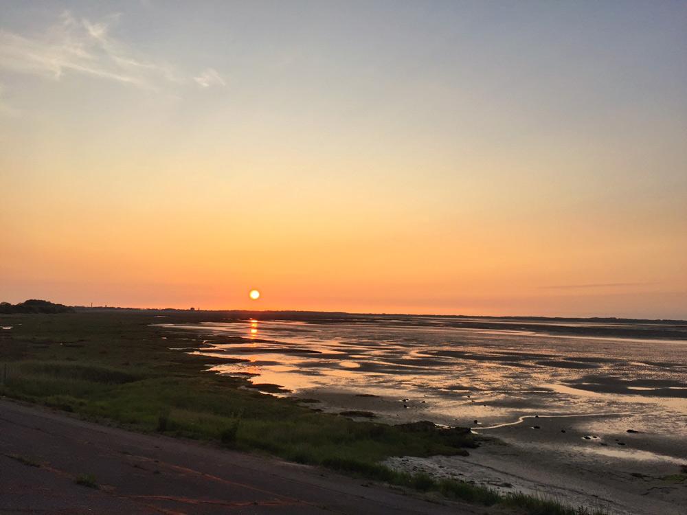 Borkum Jugendherberge Sonnenuntergang Wattenmeer