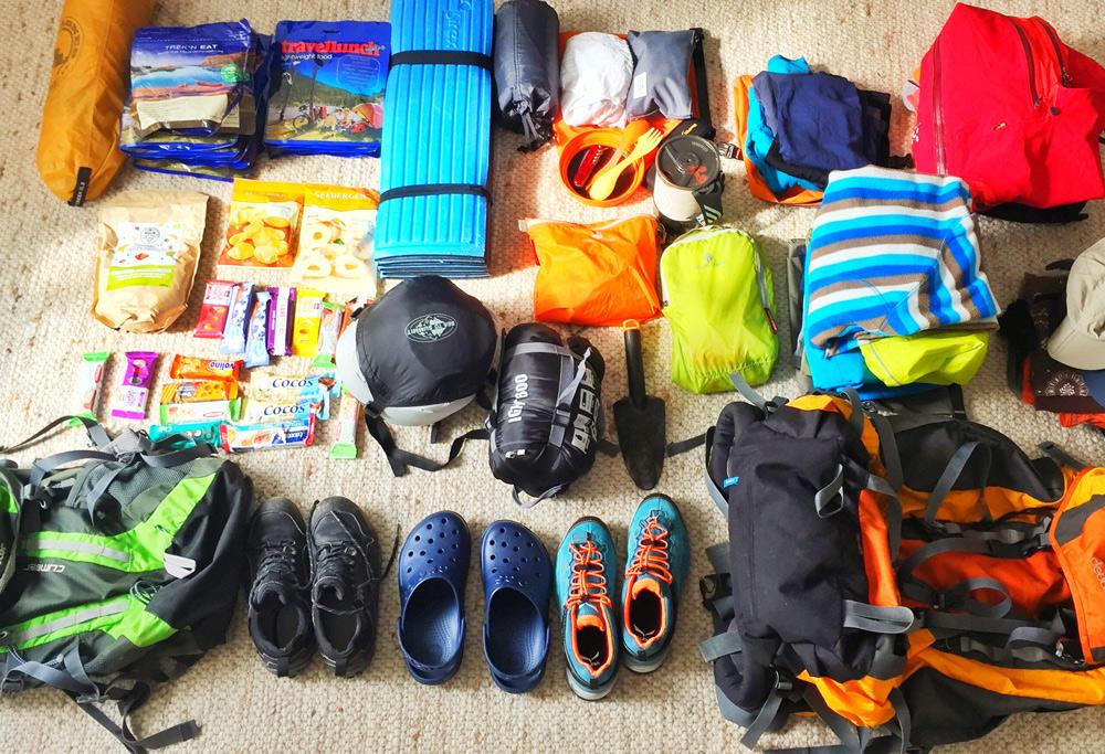 Packliste Wandern in Norwegen mit Kind Ultraleicht Ausrüstung