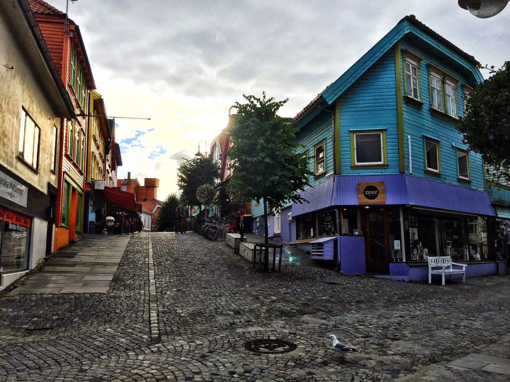 Altstadt Stavanger bunte Haeuser