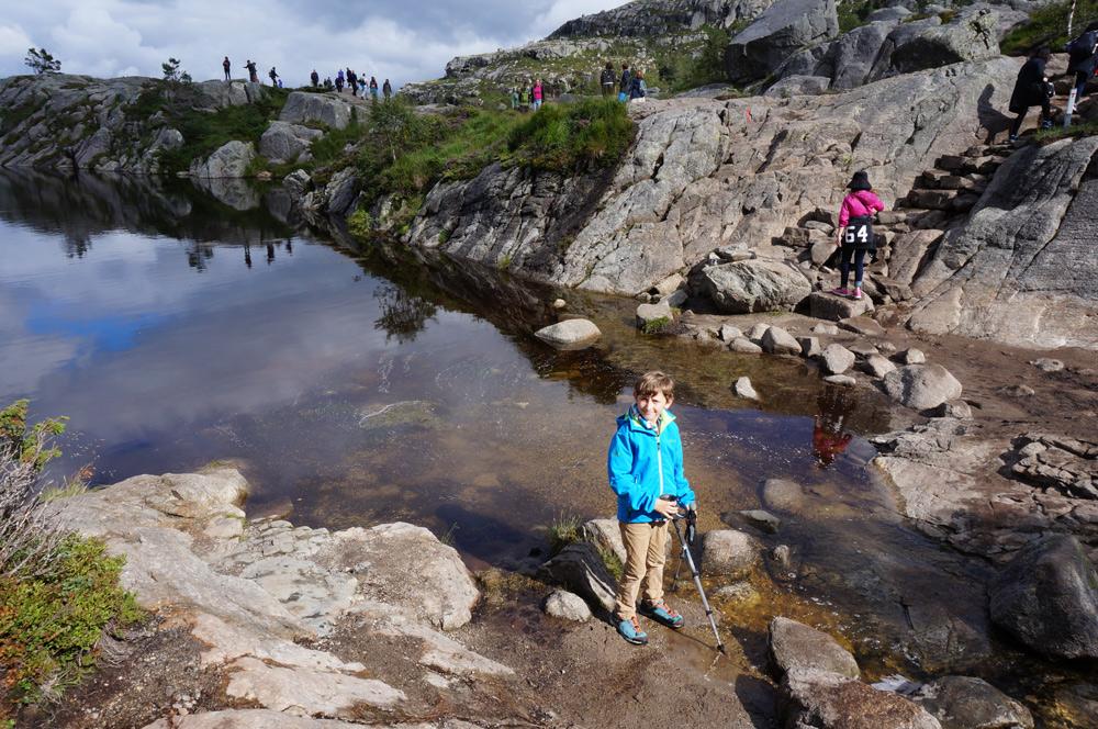 Wanderung Preikestolen Norwegen Lysefjord