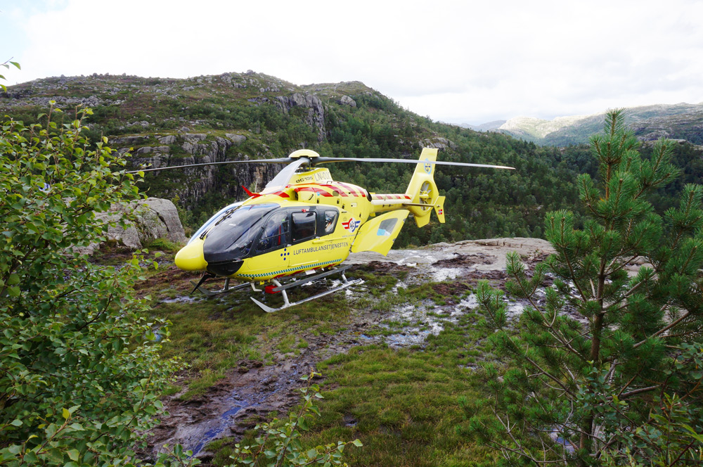 Helikopter, Hubschrauber Preikestolen Unfall wandern
