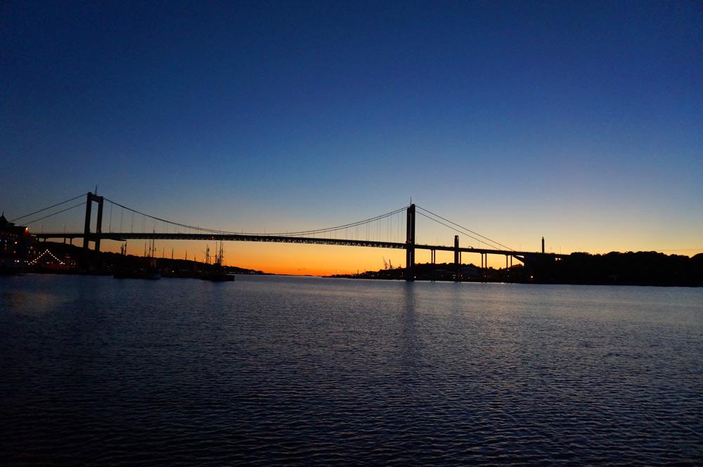 Göteborg Tipps Sonnenuntergang Brücke
