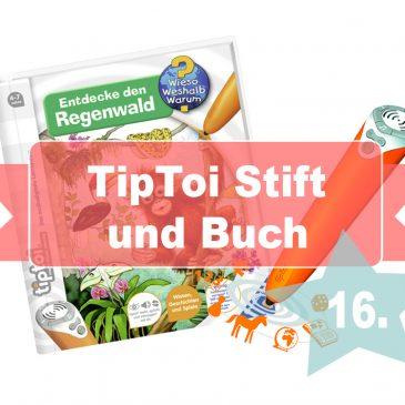 """Adventstürchen 16 – TipToi Stift und Buch """"Entdecke den Regenwald"""""""