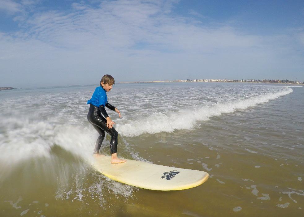 Surfen in Essaouira mit Kind