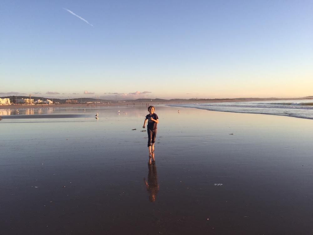 Sehenswürdigkeiten Essaouira mit Kind reisen Strand von Essaouira, Sonnenaufgang