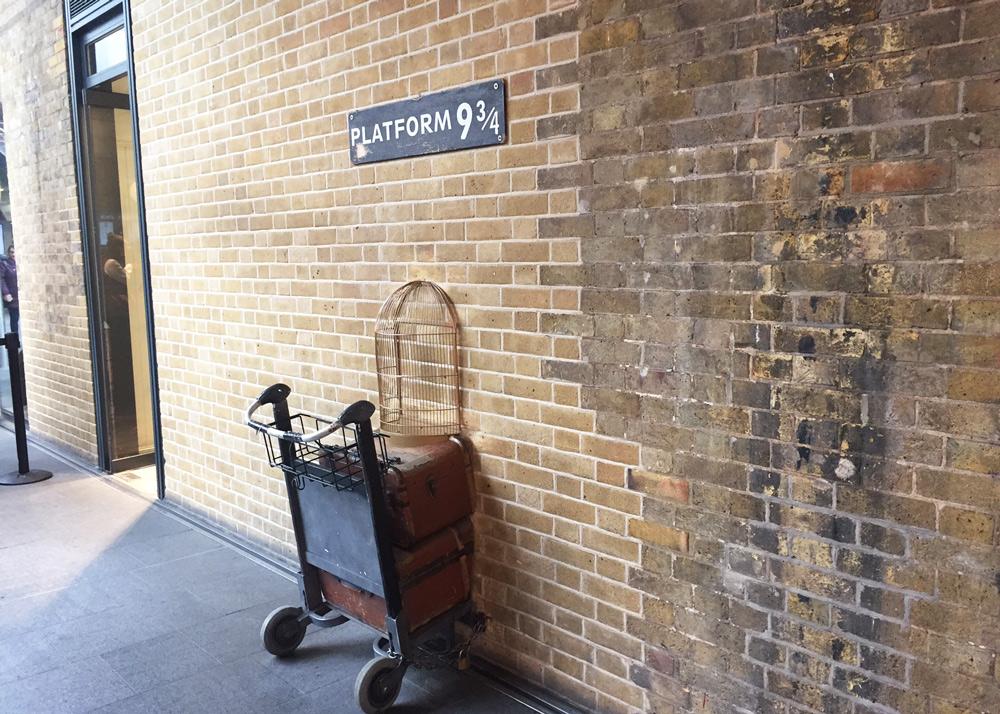Kurztrip Wochenende London mit Kindern Tipps Sehenswürdigkeiten, Gleis 9 3/4 Harry Potter