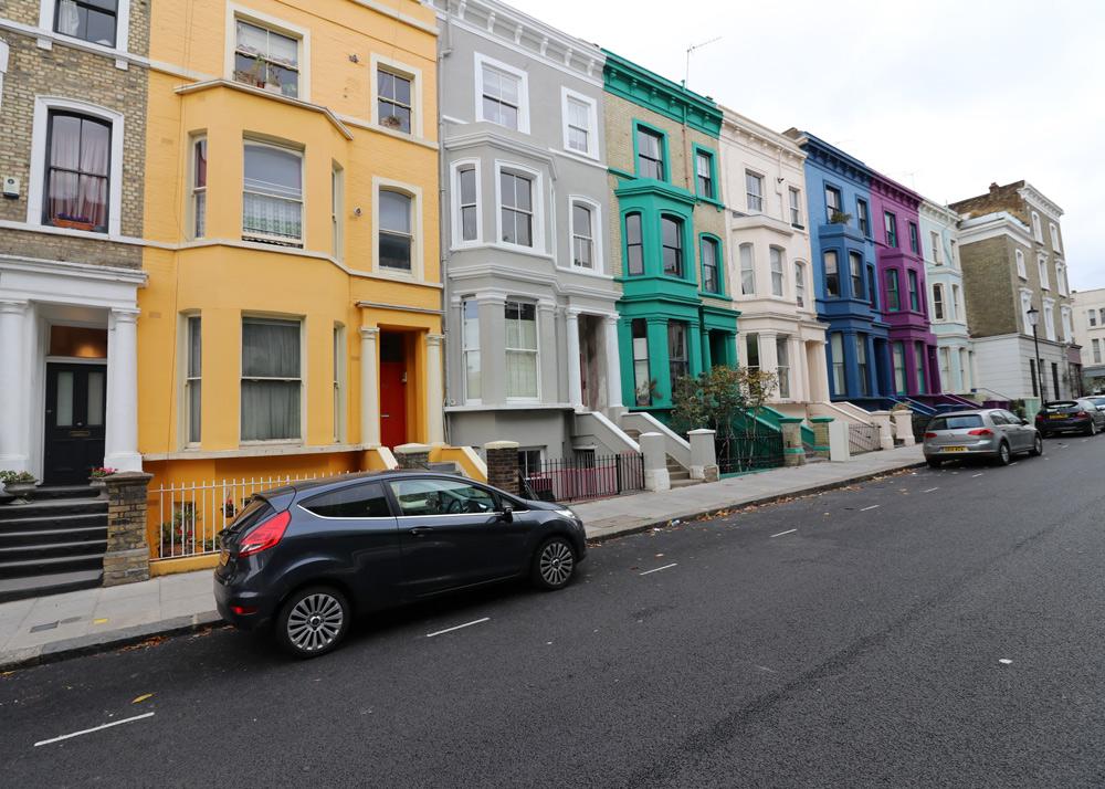 Kurztrip Wochenende London mit Kindern Tipps Sehenswürdigkeiten, Notting Hill