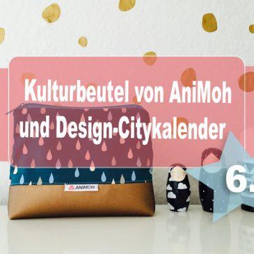 Beendet –  Adventstürchen 6 – Designer KULTURTASCHE von Animoh und CITYKALENDER Dort Illustrations