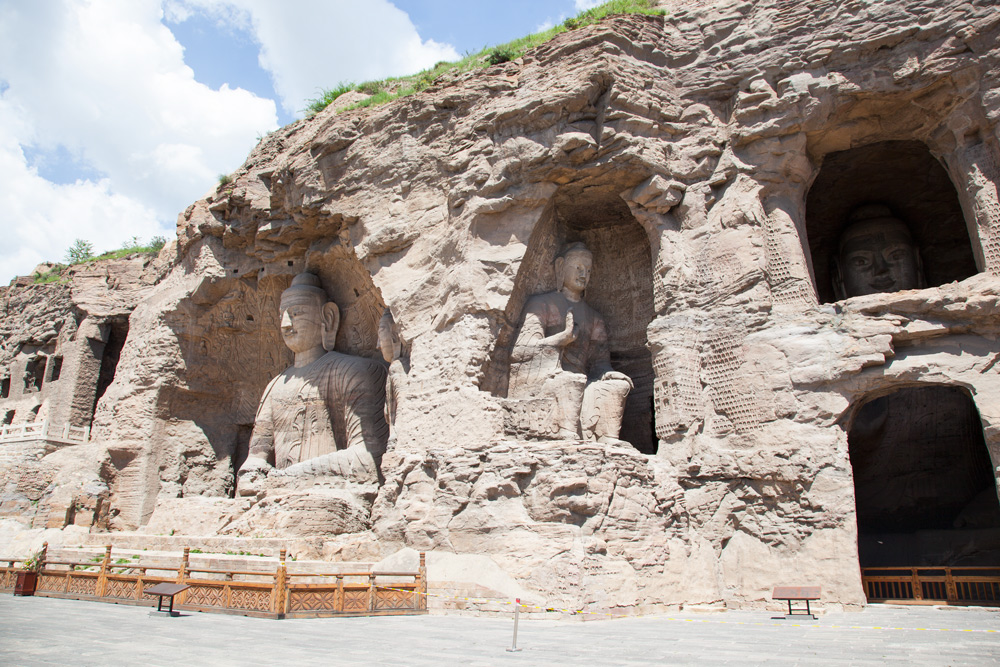 Yungang Grotten in Datong Weltreise mit Kind Asien China