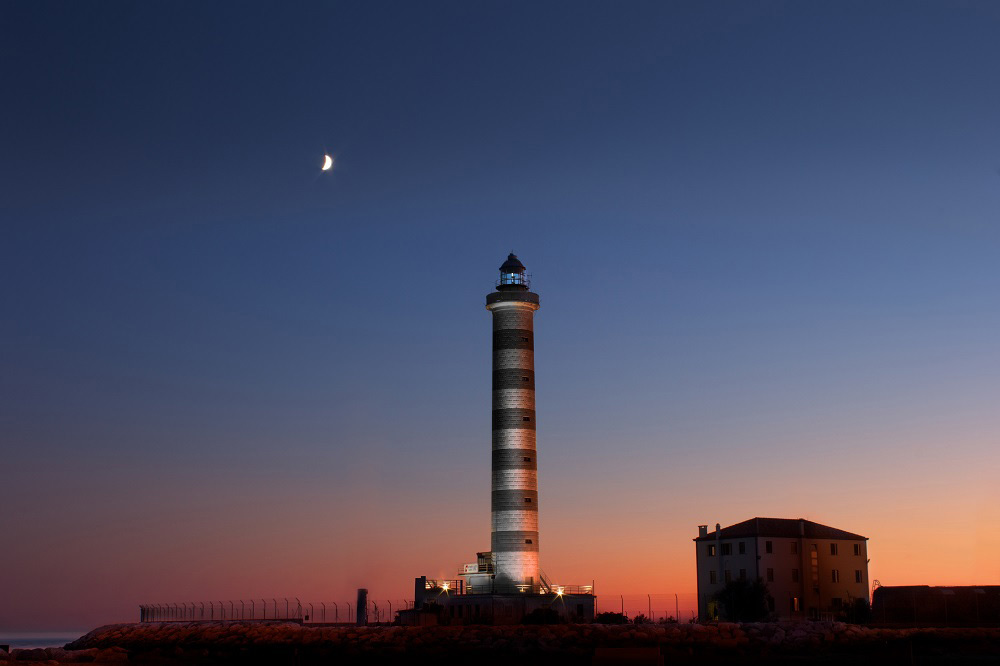 Jesolo mit Kindern Venedig Strand Leuchtturm