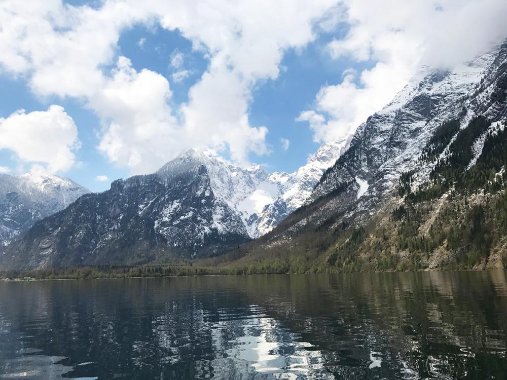 wandern am Königsee mit Kind Berchtesgadener Land Bayern Obersee Ausflug Tageswanderung Aktivitäten