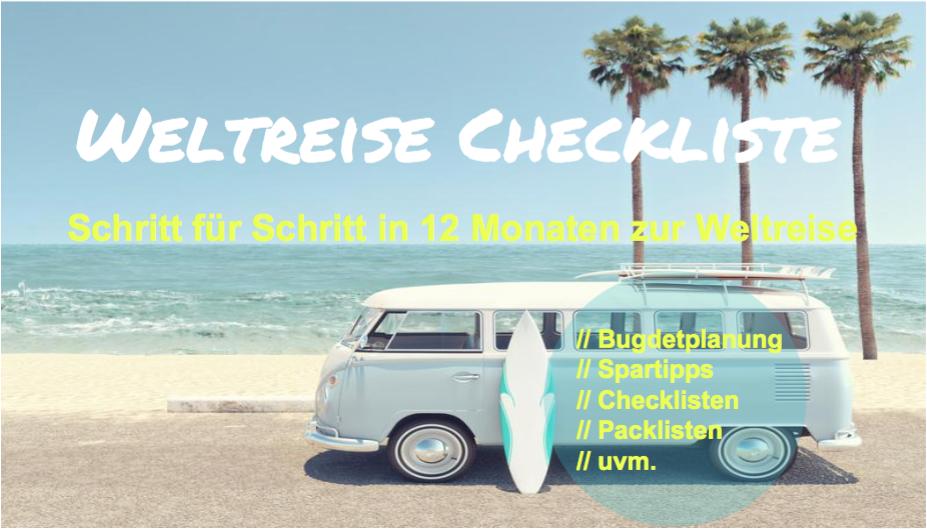 Weltreise Leitfaden, Checkliste, Packliste, Langzeitreise