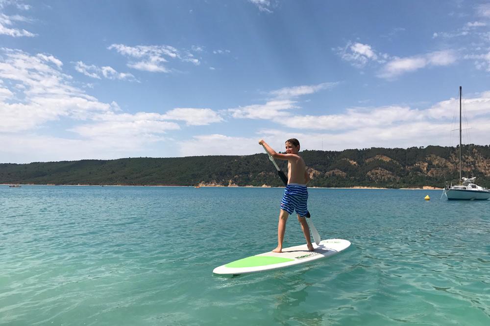 Elan Sportreisen Erfahrung Familiencamping Südfrankreich Provence Verdon Schlucht am Lac de Sainte Croix Moussiert Urlaub Campingplatz mit Kind in Frankreich