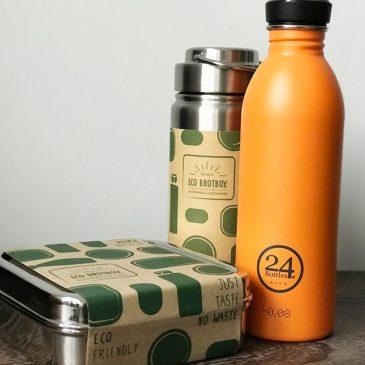 BEENDET: Türchen 8 – Brotbox Starter Set und Trinkflasche von mehr-grün.de