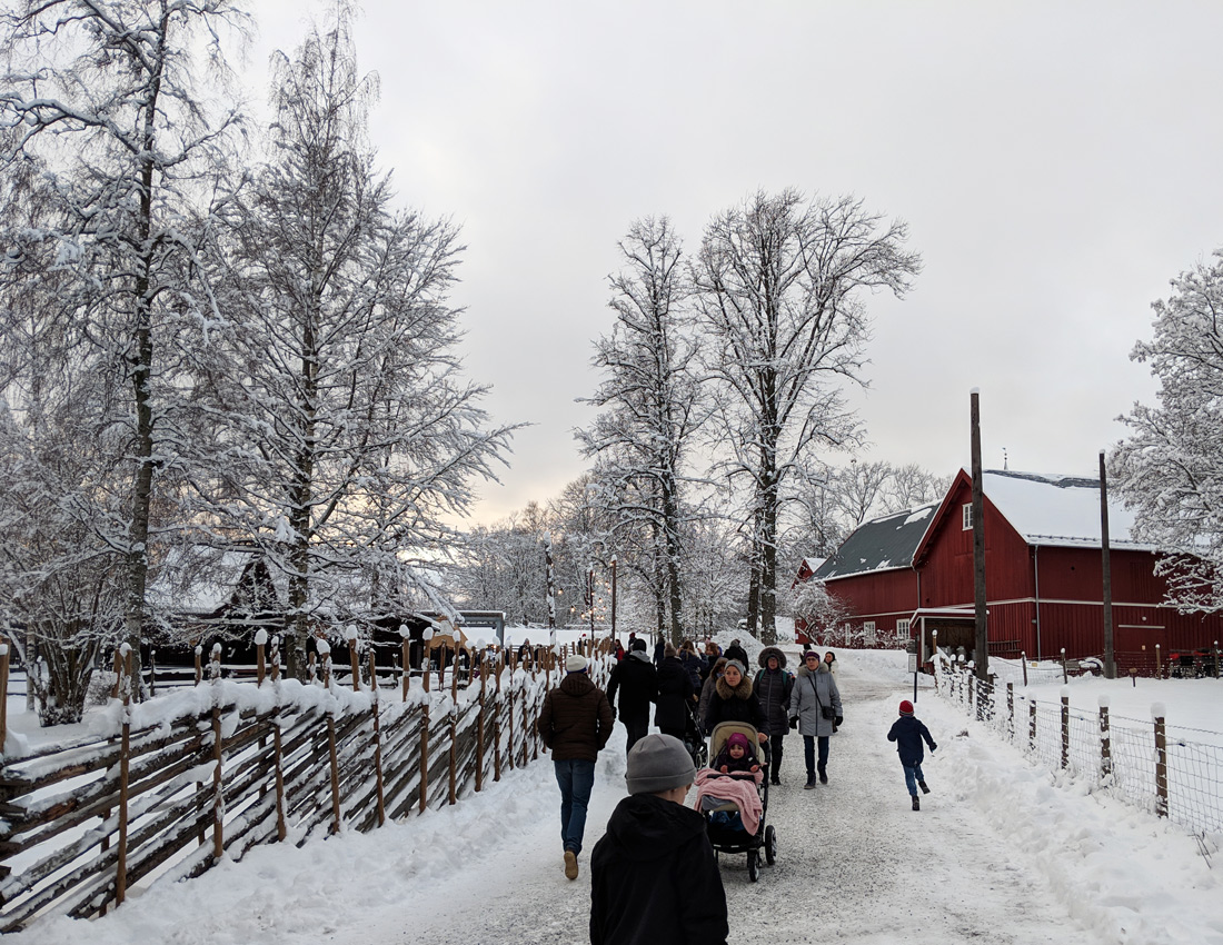 Weihnachtsmarkt Oslo Julemarked Norsk Folkemuseum - Norwegisches Volksmuseum - Oslo im Winter - Oslo mit Kindern und Baby