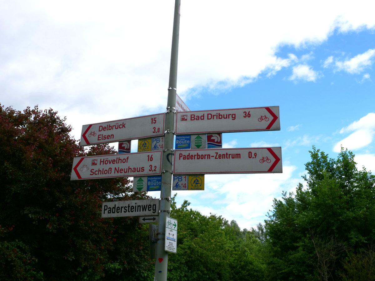 Fahrradweg in NRW