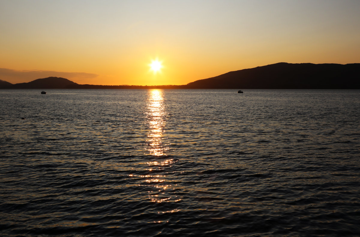 Sonnenuntergang Fjord Norwegen