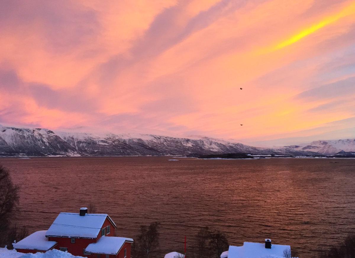 Weihnachten in Norwegen, Fjord