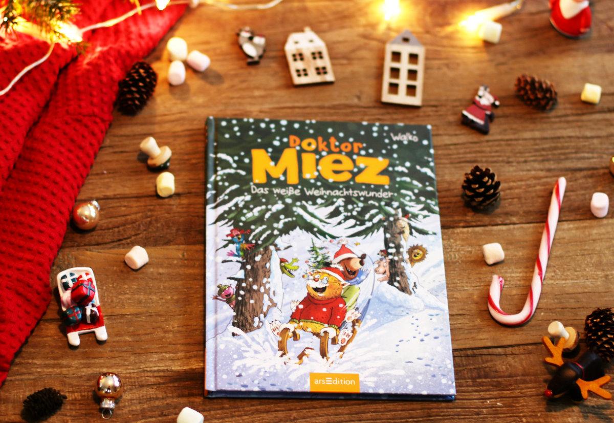 Adventskalender zum Vorlesen und unsere schönsten Weihnachtsbücher für Kinder. Doktor Miez - das weiße Weihnachtswunder