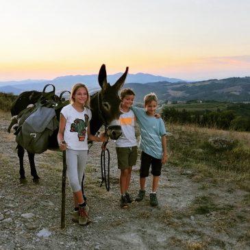 Italien – Eselwandern in der Toskana mit Kindern