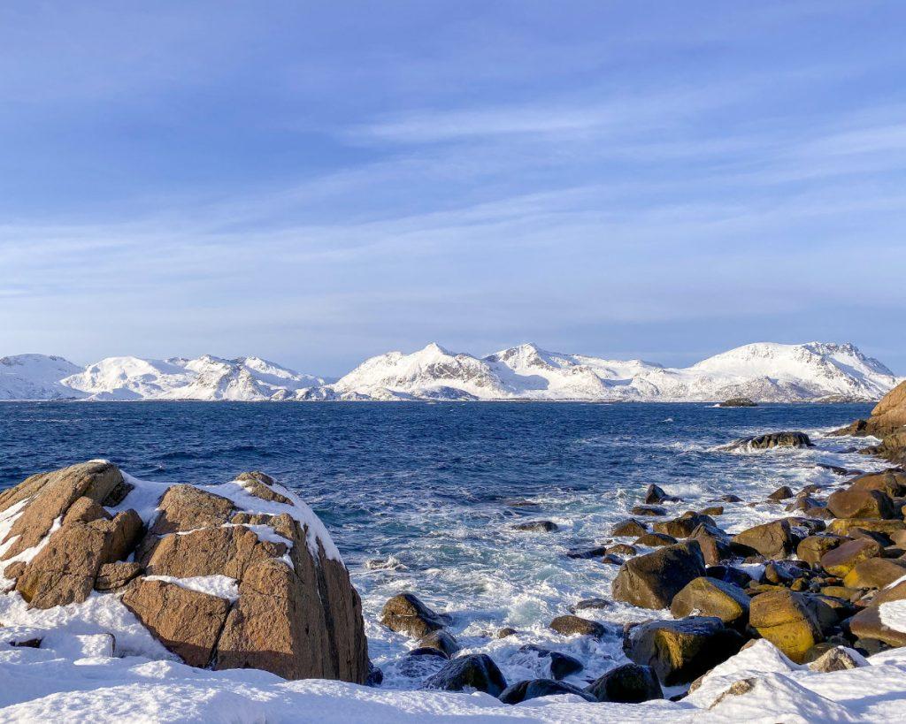 Strand auf den Lofoten in Norwegen