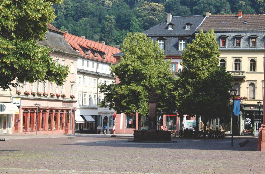 Die idyllische Fußgängerzone in Heidelberg