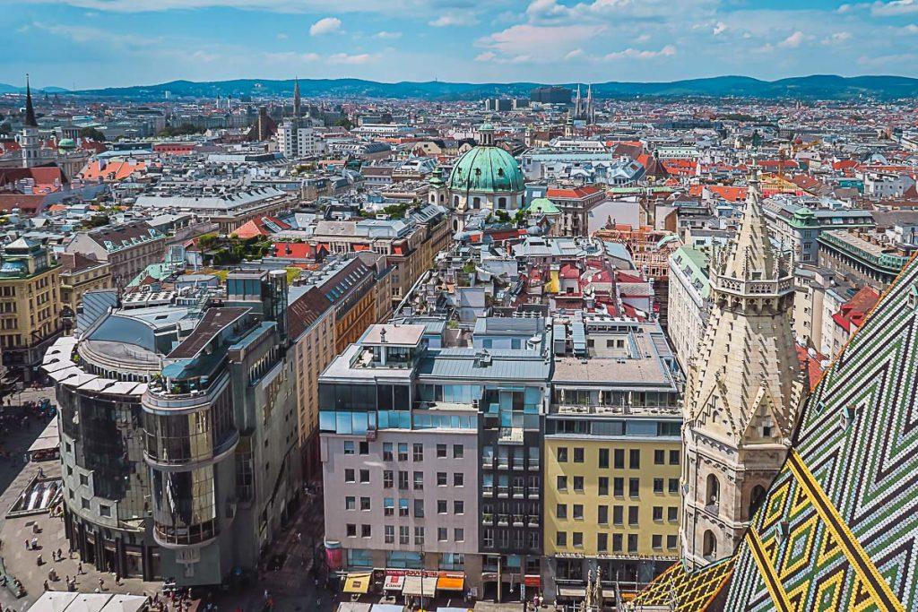 Wien von oben, Stephansdom Ausblick
