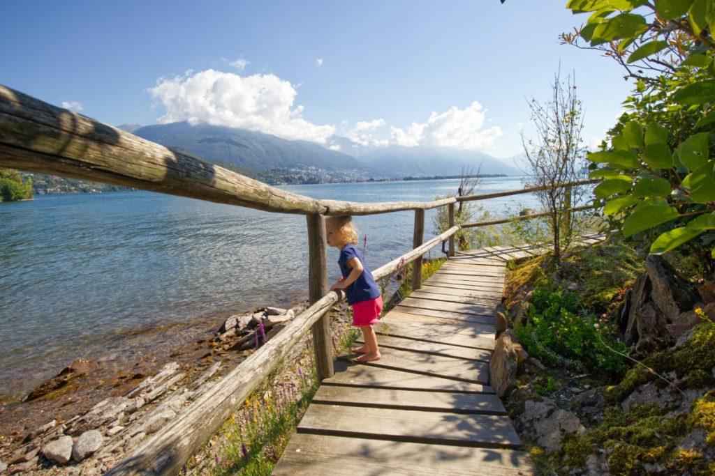 Urlaub in Tessin mit Kindern - Reiseziele in der italienischen Schweiz für Familien, Ascona vom Wasser